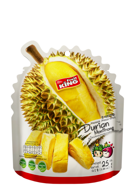 Fruits transparent durian. Dried snack freeze thai