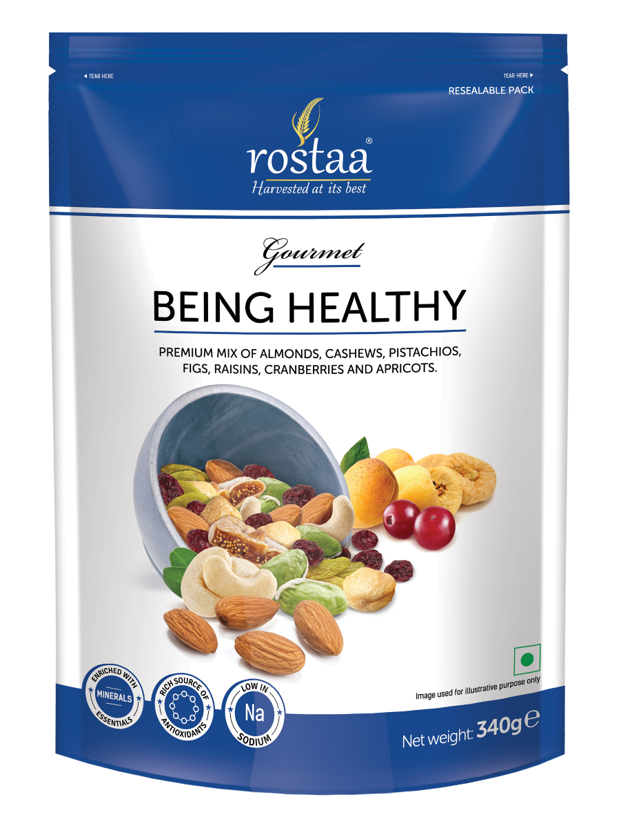 Healthy vector mixed fruit. Mix dry fruits rostaa