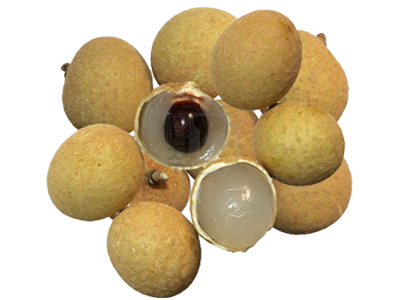 Fruits transparent longan. Fruit by their