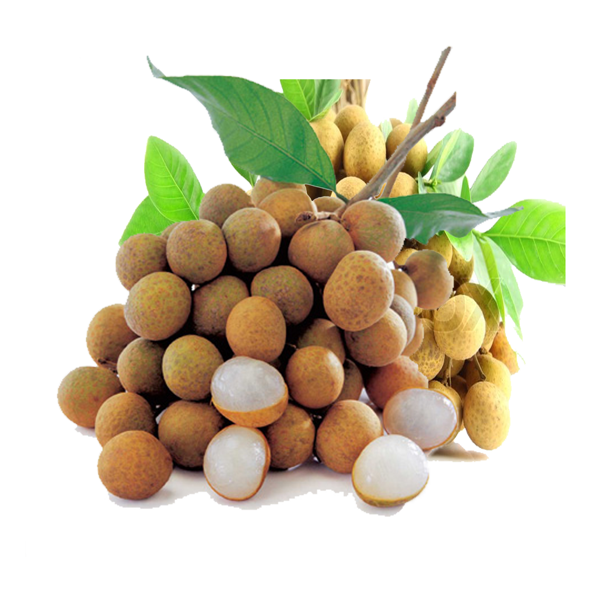 Fruits transparent longan. With potassium fruit