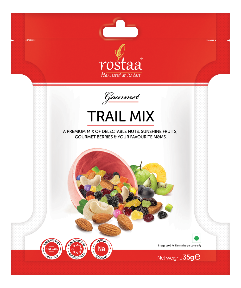 Fruits transparent mix. Trail dry rostaa text