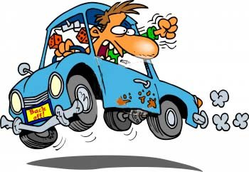 frustrated clipart aggressive driving