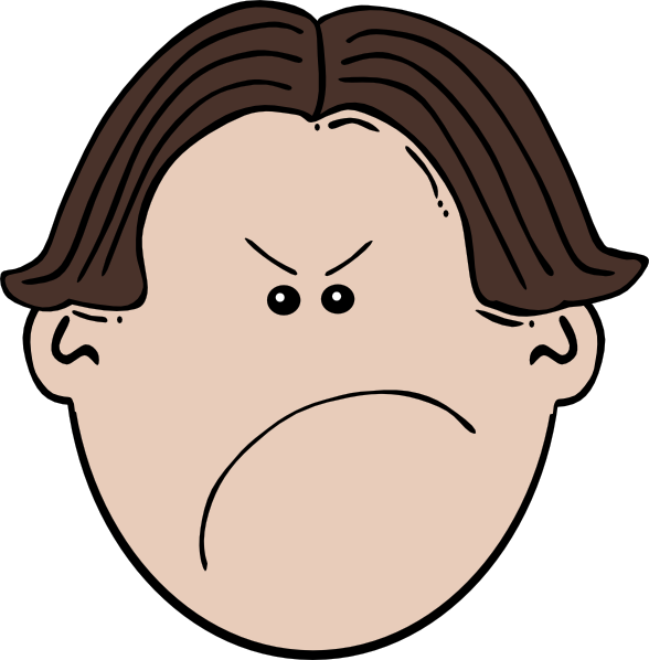 Angry clipart mad. Clip art library brown