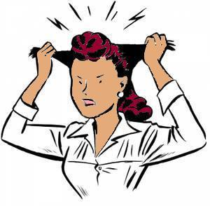 frustrated clipart shrill