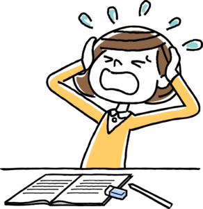 Frustrated clipart stressed child. Stress relief drawing at