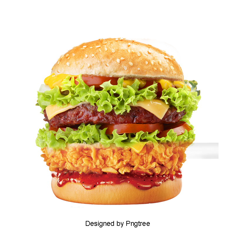 Hamburger clipart healthy burger. Bread food fried chicken