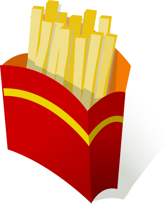 Fry clipart yellow food. Free images of french