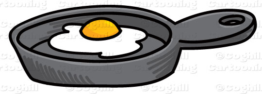 Frying clipart. Cartoon pan egg clip