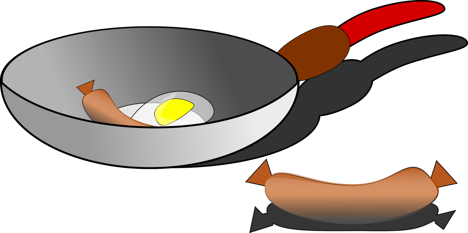 Sprout clip fried egg. Frying pan computer icons