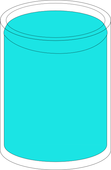 Full clipart. Glass of water clip