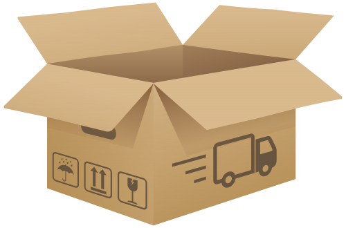 Full clipart carton. Open cardboard box png