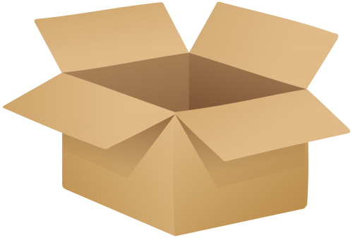 Cardboard boxes png. Open box clip art