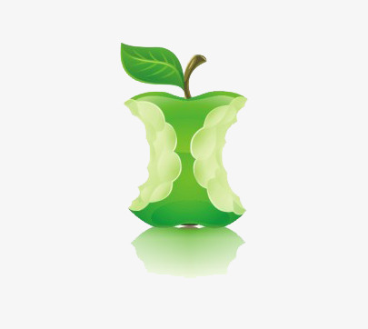 Full clipart eaten. It is green apple