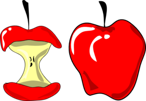 Full clipart eaten. Apples clip art at