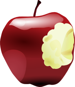 Full clipart eaten. Apple bitten clip art