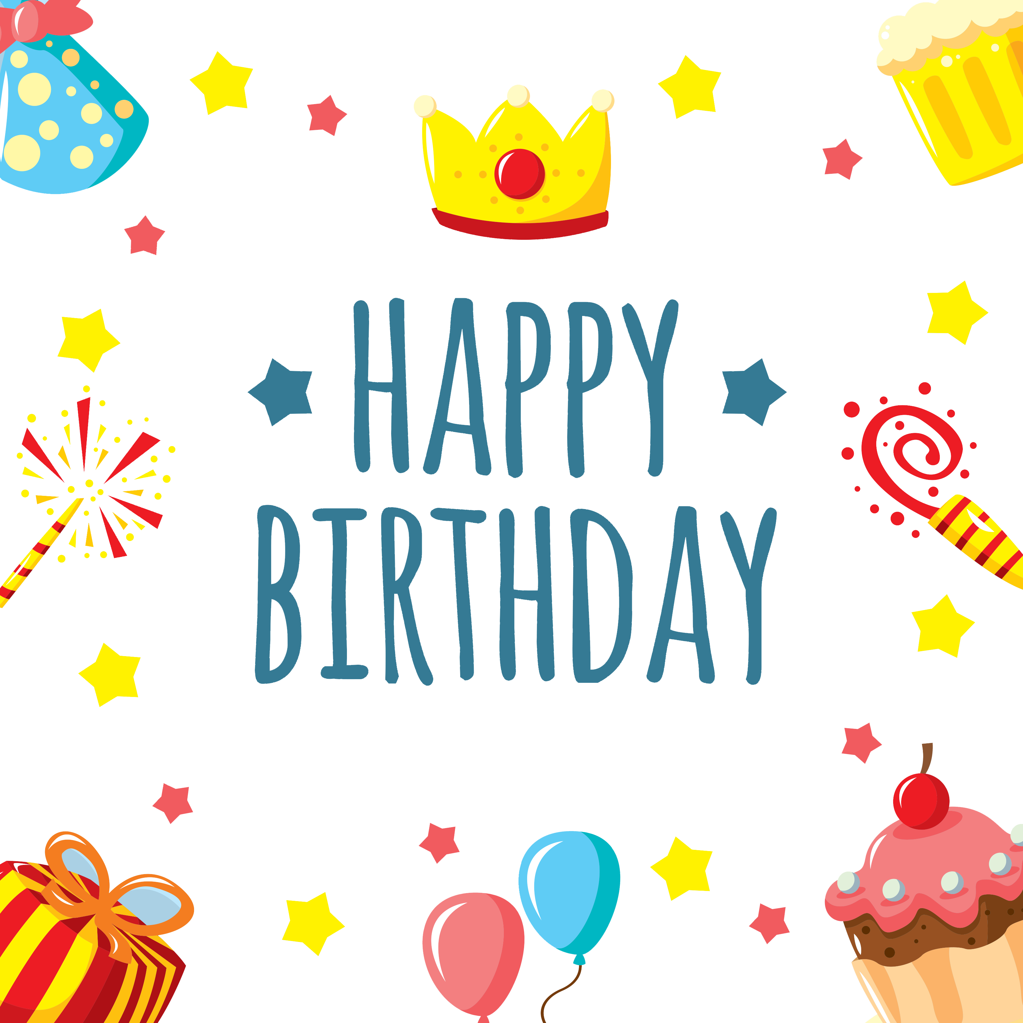Happy birthday to you. Fun background png clip art free download