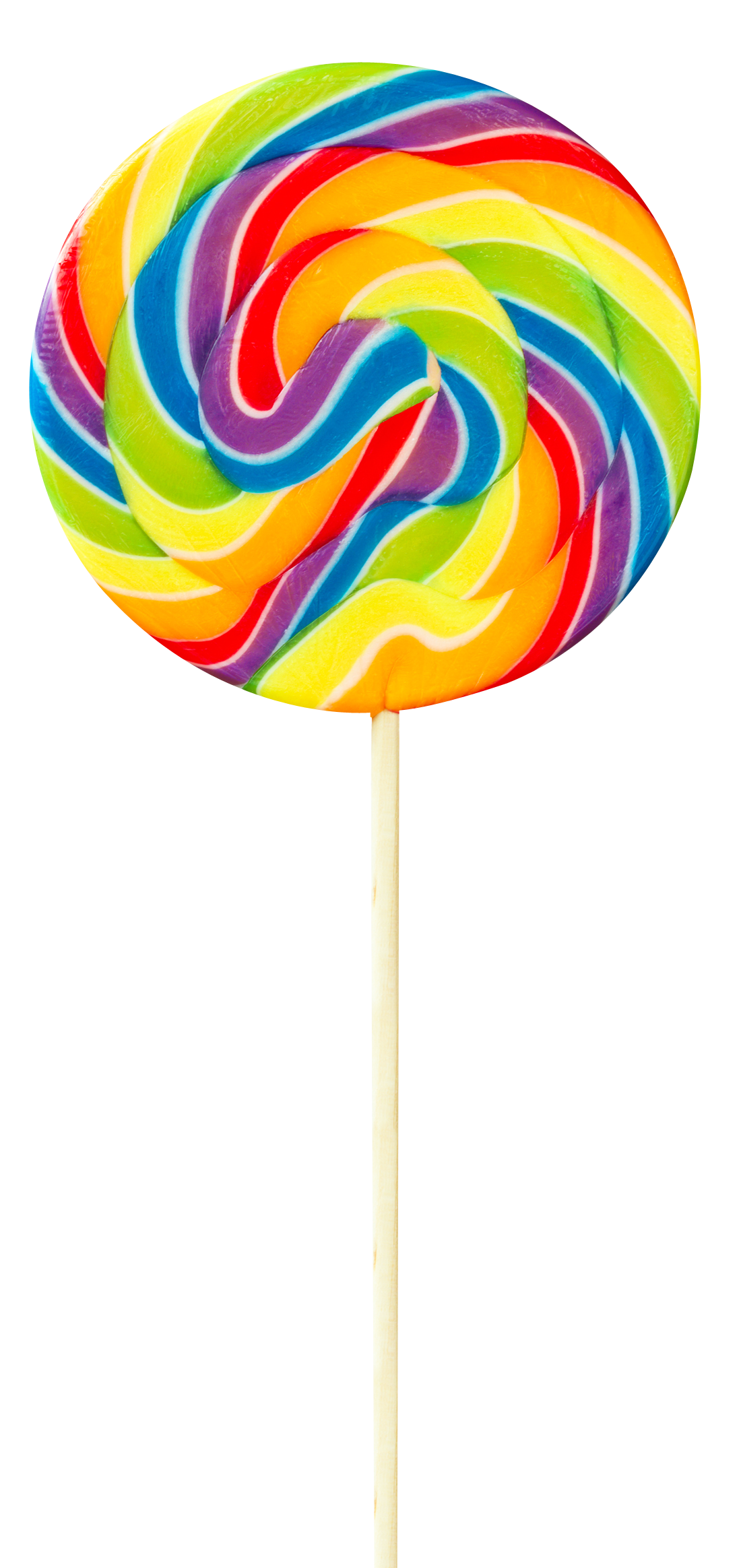 Transparent lollipop isomalt