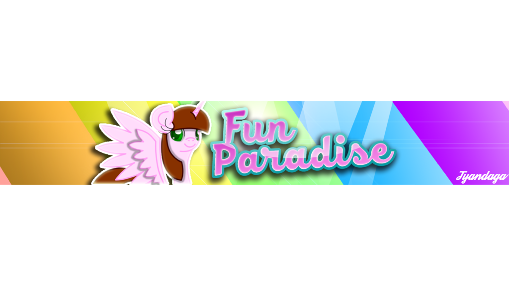 Fun banner png. Paradise youtube by tyandagaart