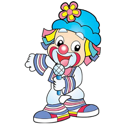 Fun clown png. Cute cartoon clip art
