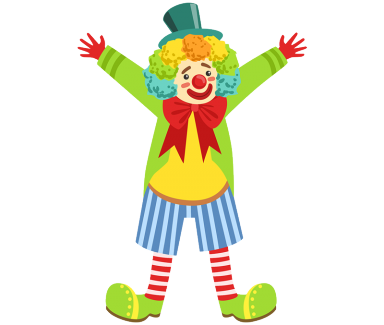 Fun clown png. Laughter is indeed the