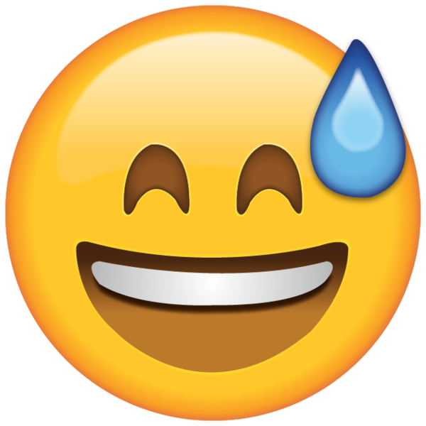 Fun emoji png. Download smiling with sweat