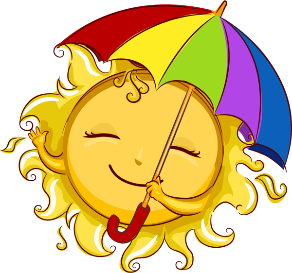 Fun in the sun boarders png. Image of clip art
