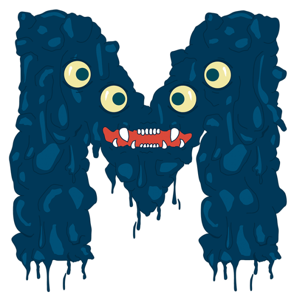 Fun monster png. Buy funny font to