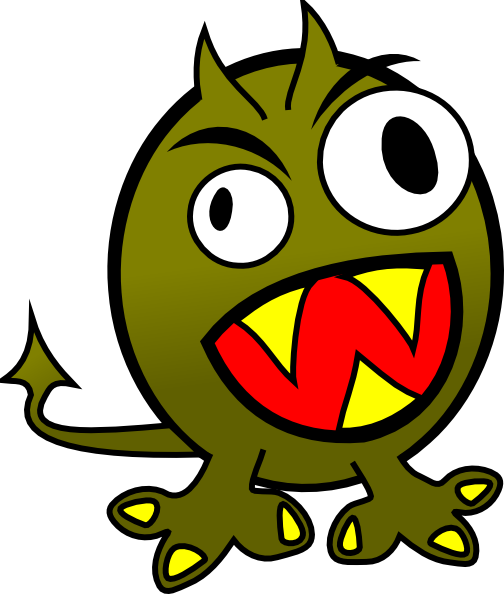 Fun monsters clipart png. Small funny angry monster