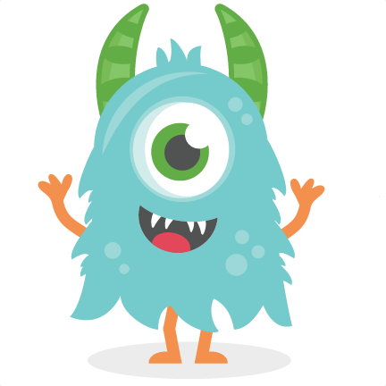 Fun monsters clipart png. Blue monster svg cutting