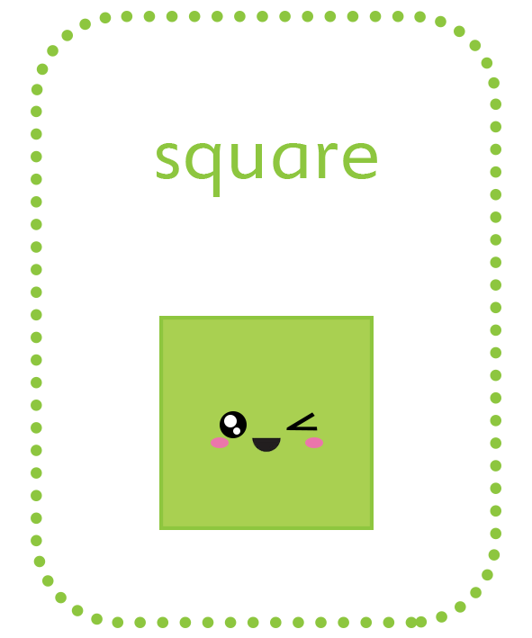 Fun shapes png. Play and learn geometric