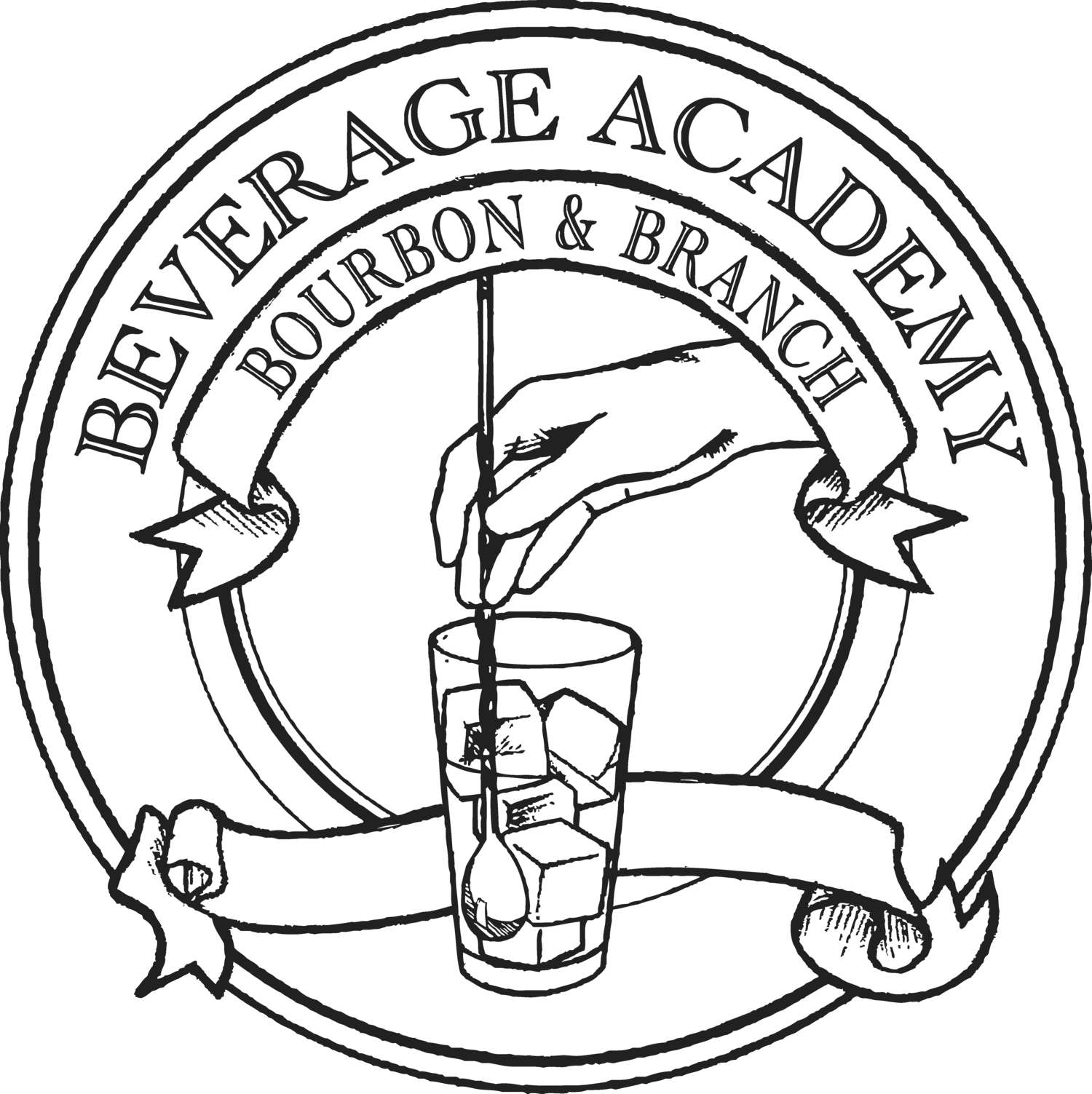Function drawing black book. The beverage academy