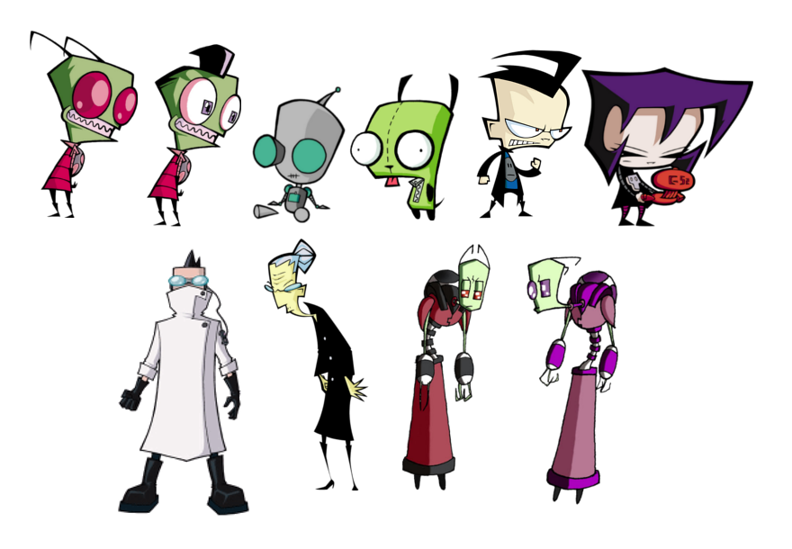 G drawing style. List of invader zim