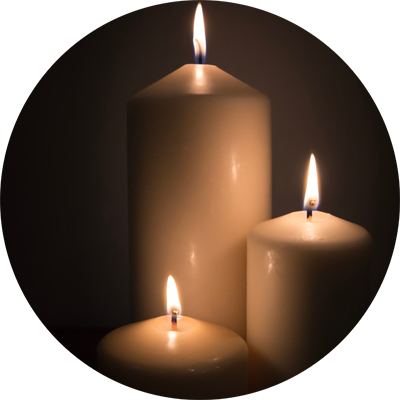 Funeral candles png. Celebrant north west we