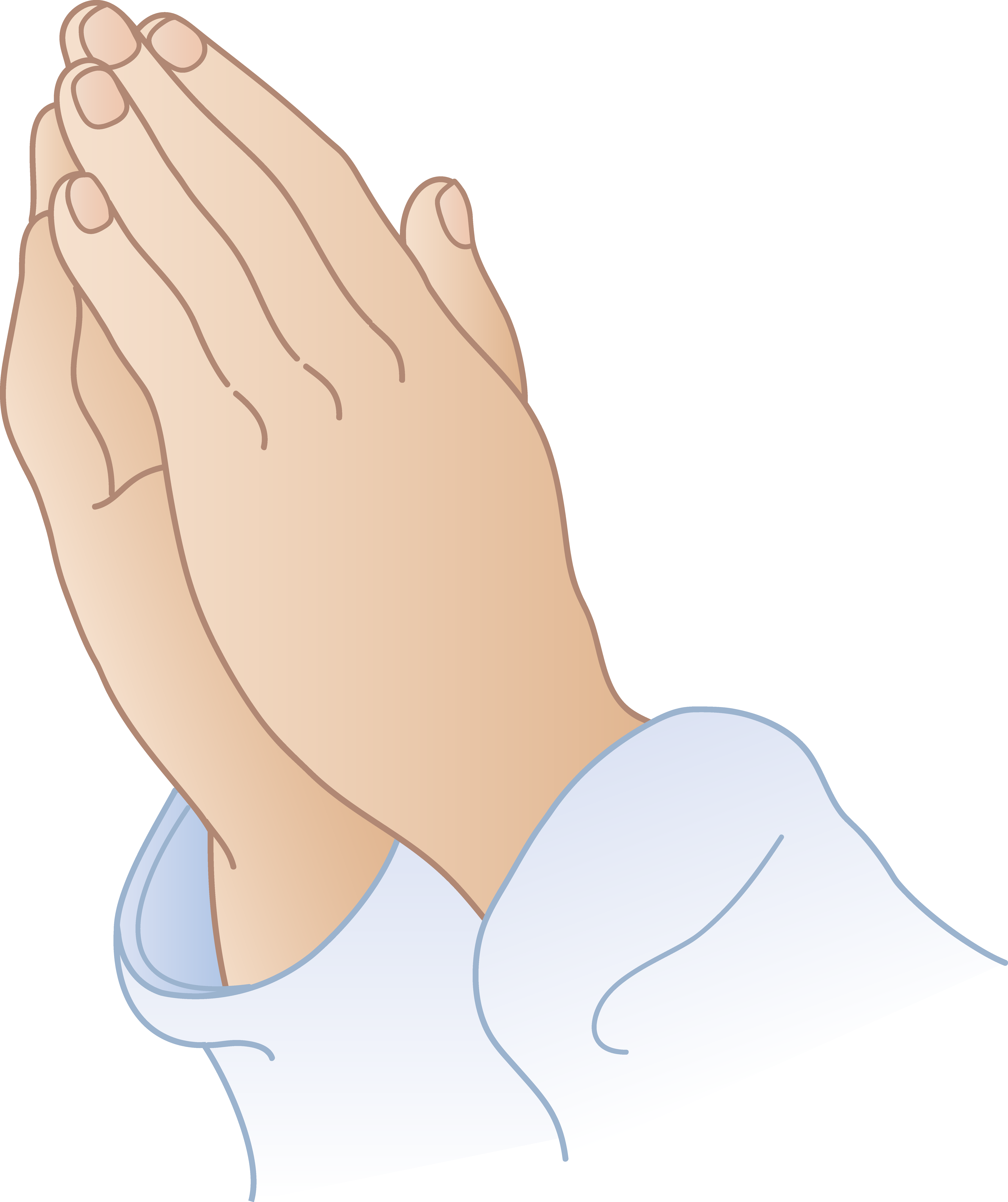 Prayer vector animated. Praying hands clipart for