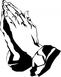 Funeral clipart prayer hand. Praying hands with cross