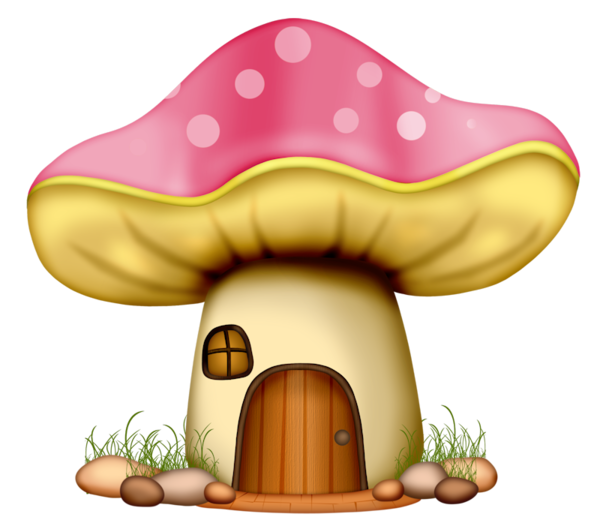 Fungus drawing cartoon. Common mushroom clip art