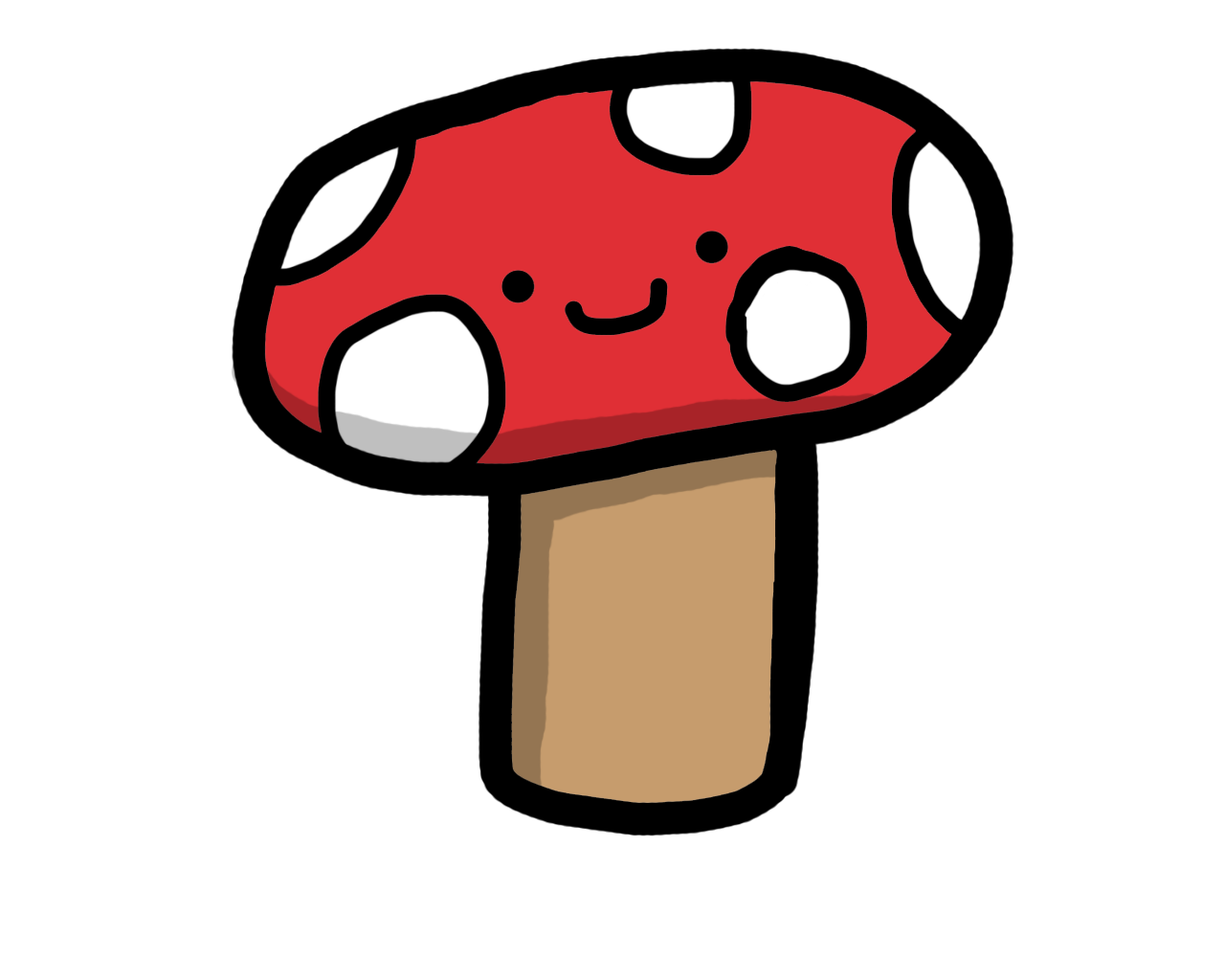 Fungus drawing cute. Collection of mushroom