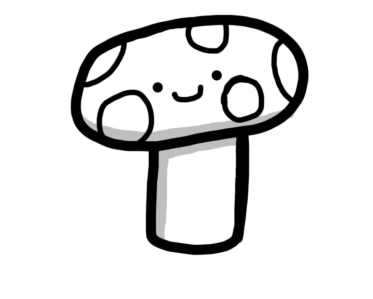 Fungus drawing step by. Cute for free