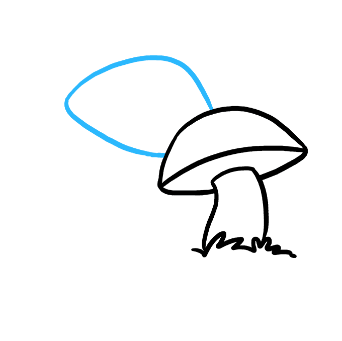 Drawing shrooms ink. How to draw a