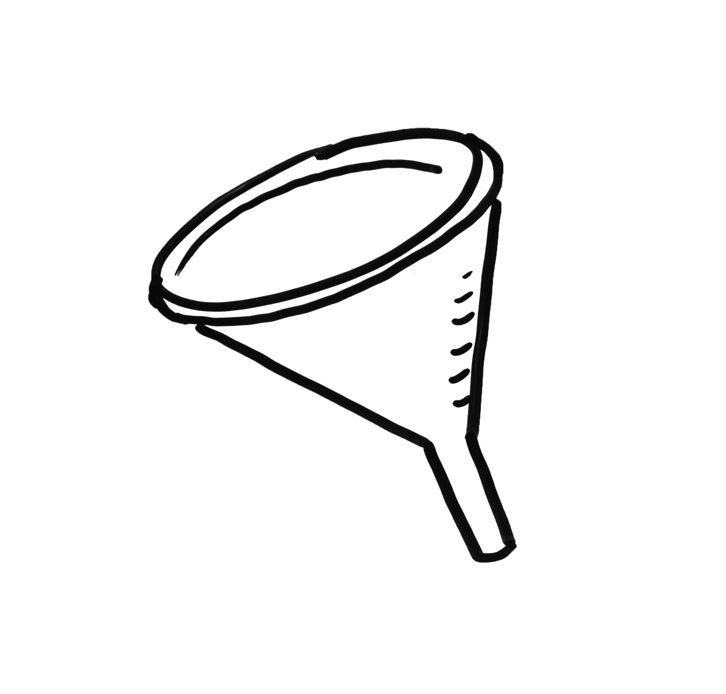 Funnel drawing.  collection of high graphic royalty free