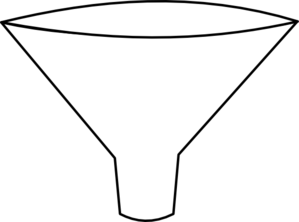 Funnel drawing. Simple clip art at