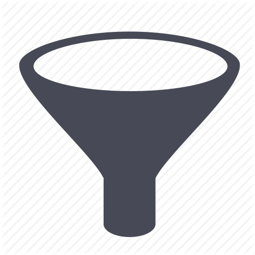 Funnel vector png. Filter icons free and