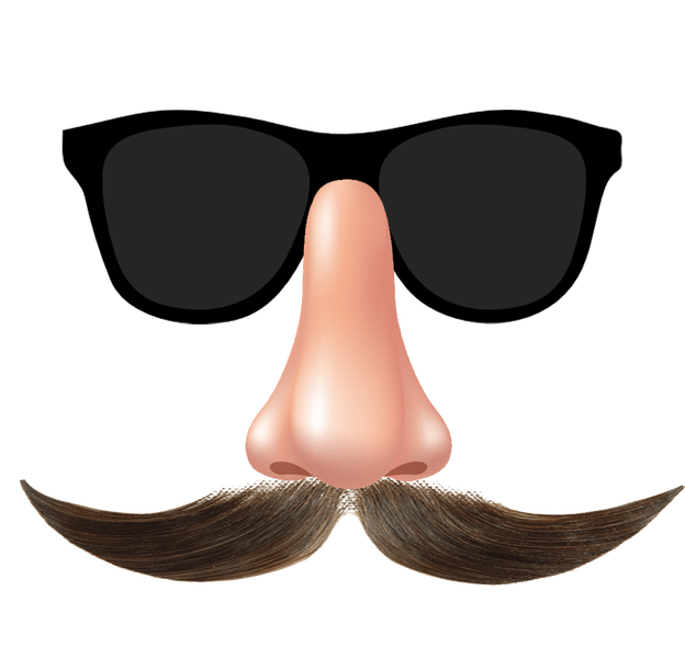 Mustache glasses png. And funny face transparent