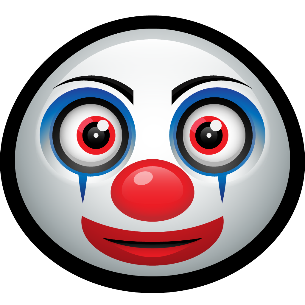 Funny png avatar. Happy mask clown carnival