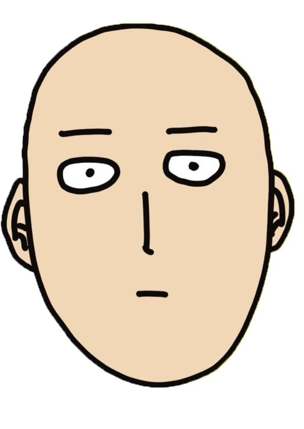 Funny png avatar. One punch man face