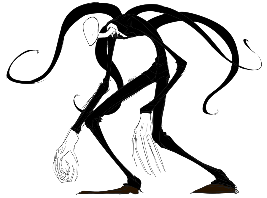 Slender man png. Slenderman by malchutt on