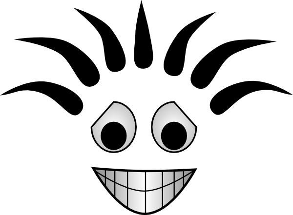 Funny smile png. Smiling cartoon face clip