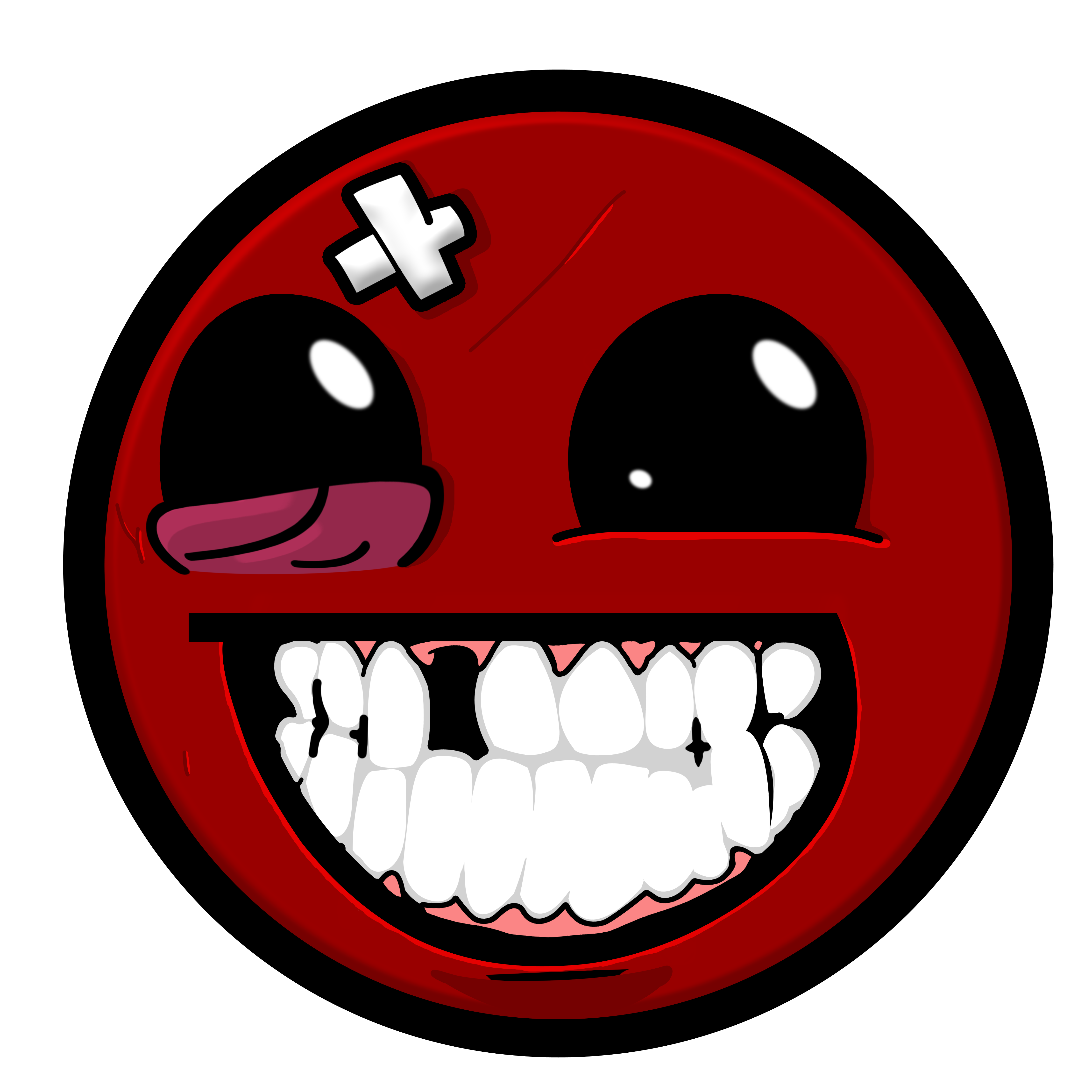 Funny smiley face png. Super meat boy awesome