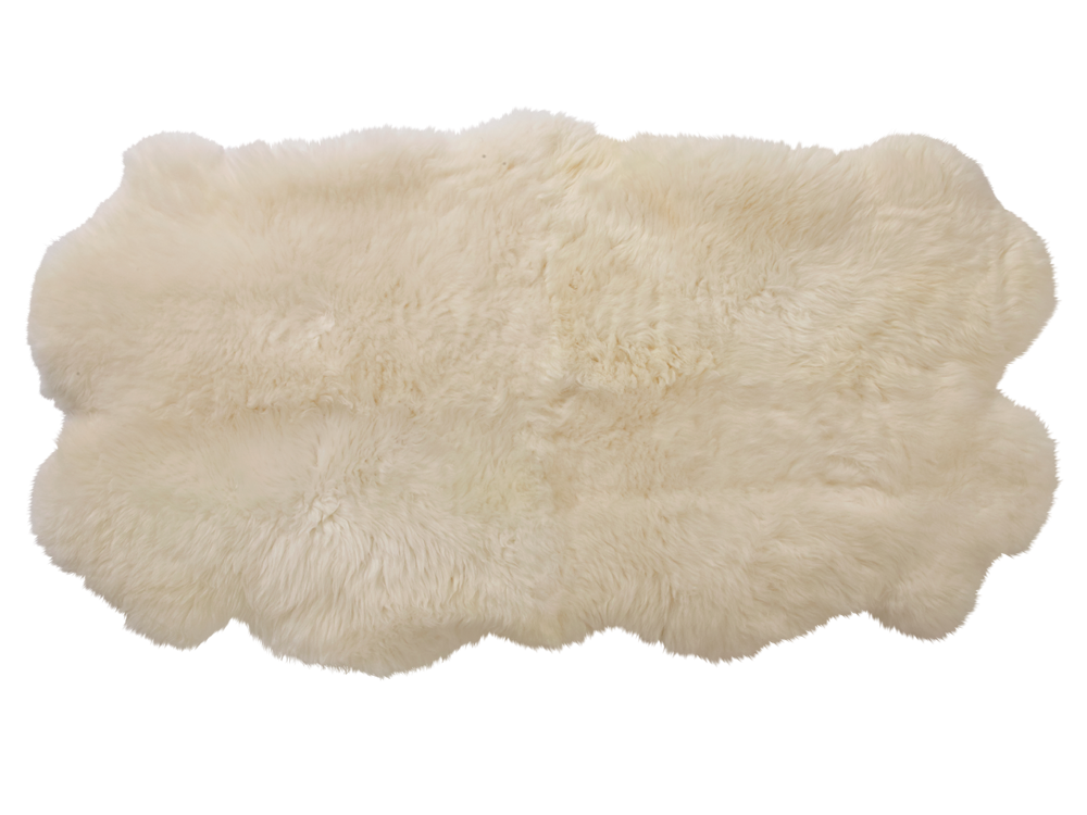 Fur rug png. Natural cream sheepskin you