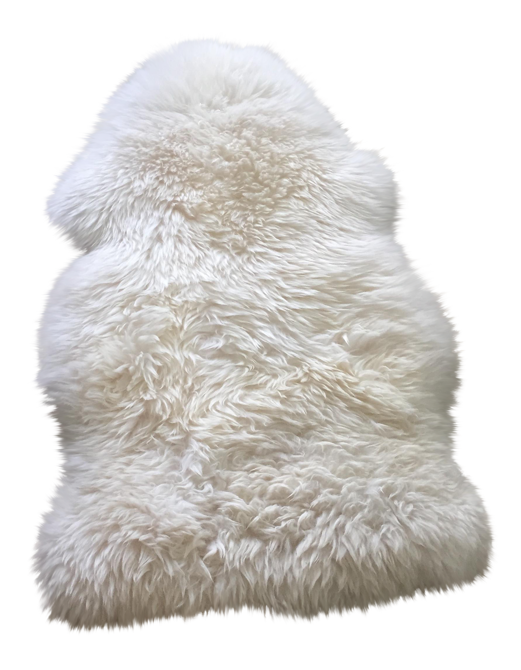 Fur rug png. White ivory x chairish